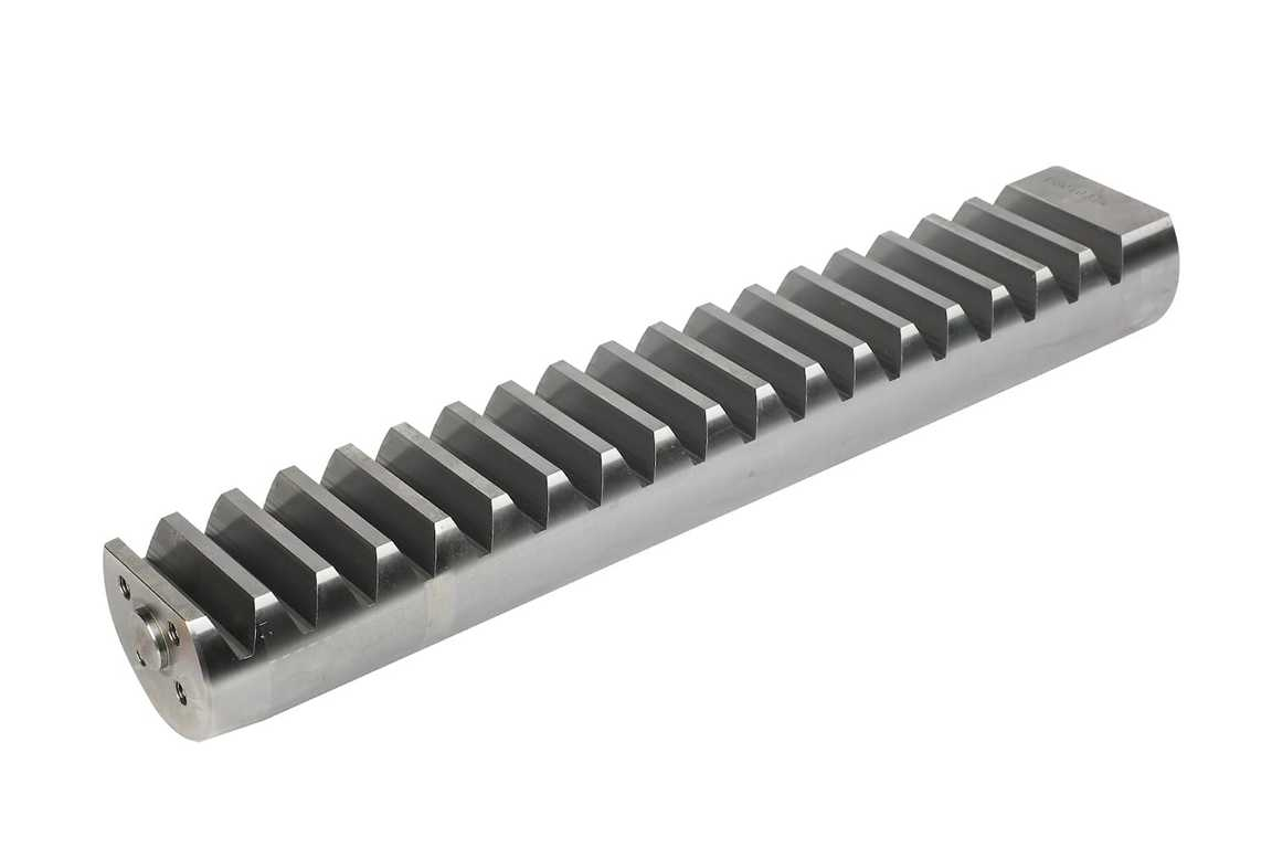 Zahnstange für Schwenkwerk CH6 mit Fräsung für Sensor