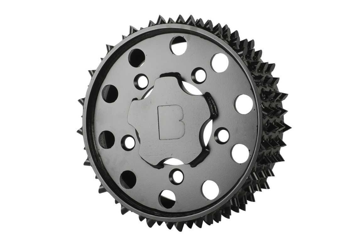 Äußere Vorschubwalze John Deere H415 Black Bruin 20mm links