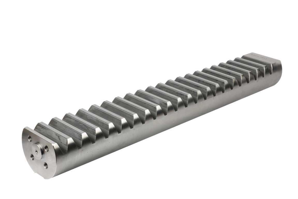 Zahnstange für Schwenkwerk CF7 mit Fräsung für Sensor