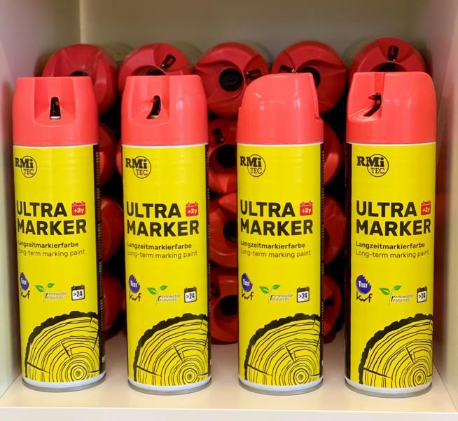 RMiTec Forstmarkierspray 'Ultra-Longtime-Marker' 500ml hellrot
