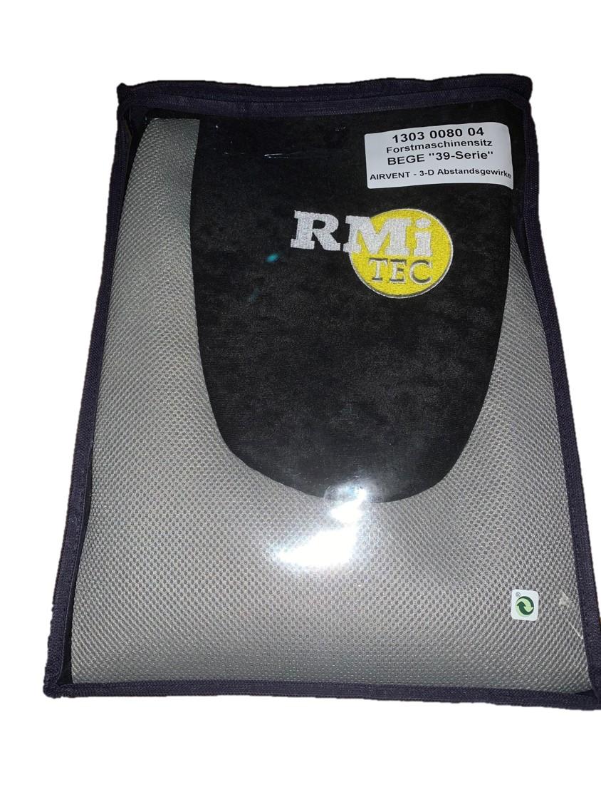 RMi-Tec Passform-Schonbezug für Forstmaschinensitz BeGe 3130 schwarz/grau