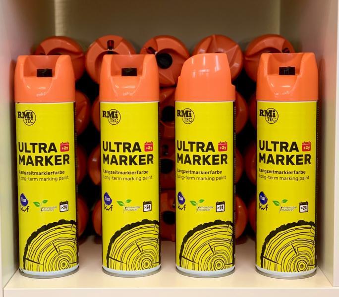 RMiTec Forstmarkierspray 'Ultra-Longtime-Marker' 500ml hellorange